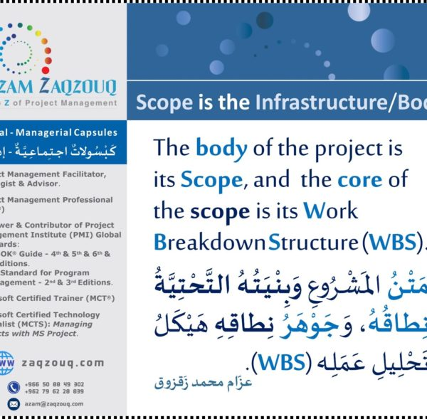 Scope is the Infrastructure/Body