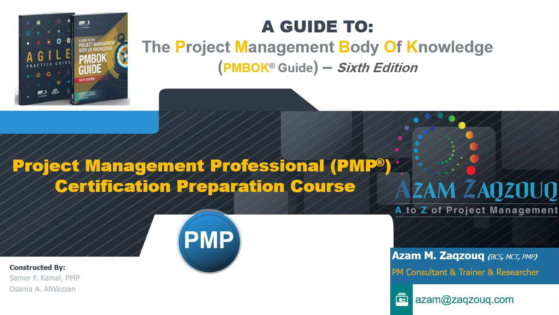 PMI PMP Course-Workshop Master Presentation (6th Edition)